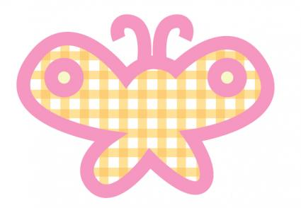 Printable butterfly sticker
