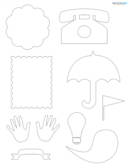 misc shapes for scrapbooking