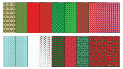 Traditional Christmas Scrapbook Patterns - Set #1
