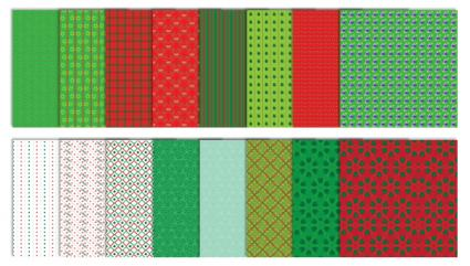 Traditional Christmas Scrapbook Patterns - Set #2