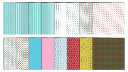 Modern Christmas Scrapbook Patterns