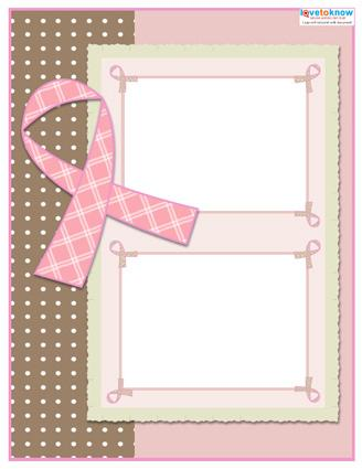 Breast cancer awareness scrapbook layouts lovetoknow for Templates for scrapbooking to print