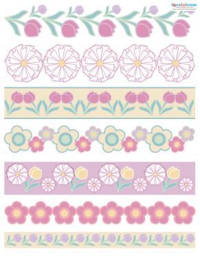floral scrapbook borders