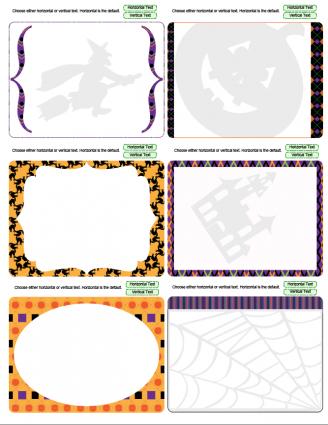 Halloween theme journal cards