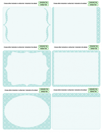turquoise journaling cards