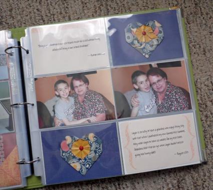 layout using free printable journaling cards