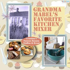 Favorite kitchen mixer scrapbook page