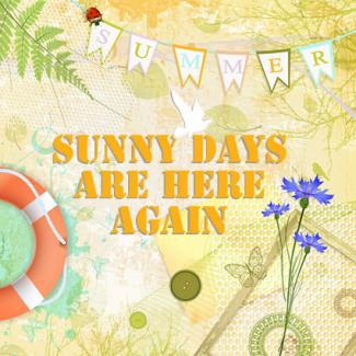 summer sunny days scrapbook layout