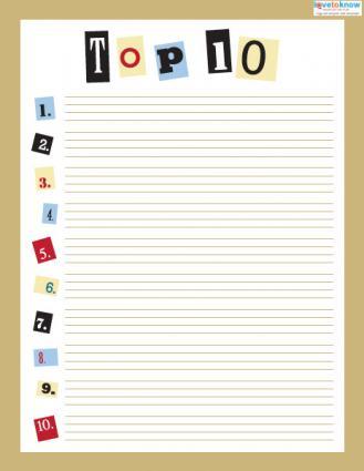 Top 10 Smash Book - 8 1/2 x 11