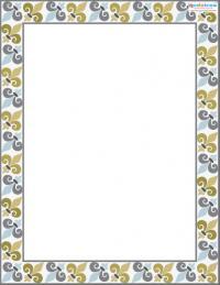 Printable Scrapbooking Borders Fleur de Lis 2