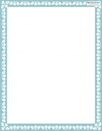 Printable Scrapbooking Borders Floral 2