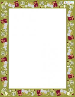 Printable Scrapbooking Borders Christmas 1