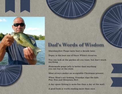 Dad's Words of Wisdom