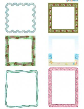 free digital scrapbook frames
