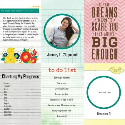 weight loss scrapbook page