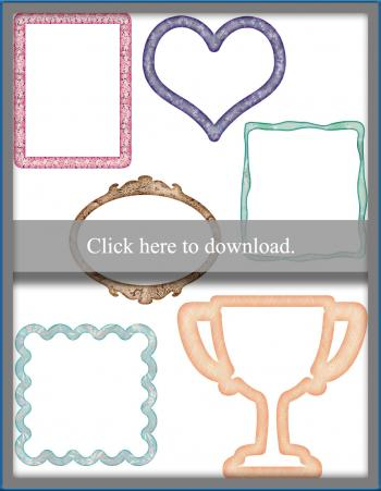 printable scrapbook frames