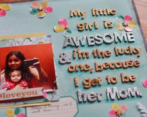 Scrapbooking idea for mothers and daughters