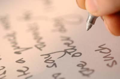 Practice makes perfect when developing your penmanship.
