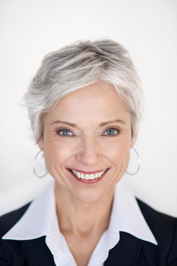Pictures of Short Hairstyles for Gray Hair [Slideshow]