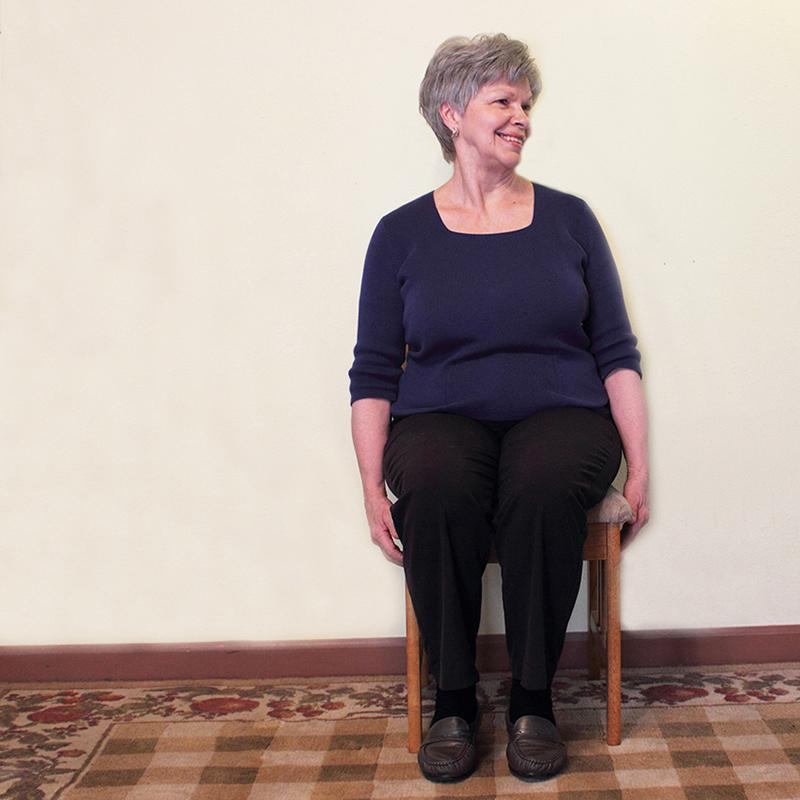 Senior chair exercise neck stretch