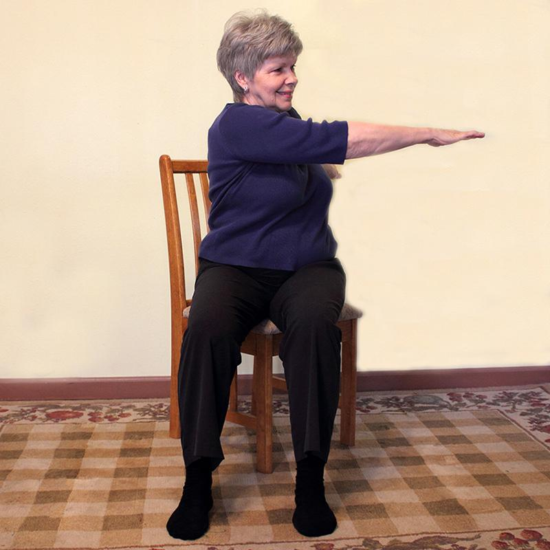 Senior chair exercise spinal twist