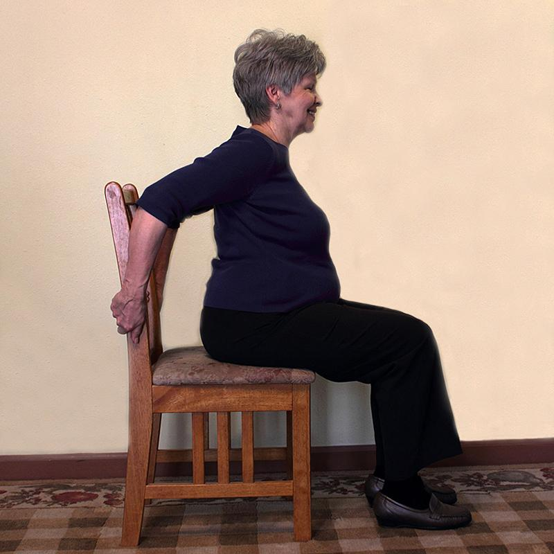 Seated chest expansion exercise
