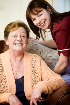 Woman with Support Care