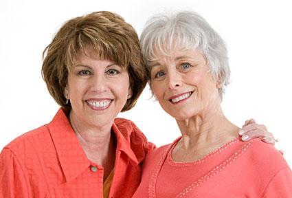 senior woman hair