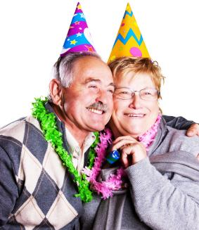 Couple celebrating a 50th birthday