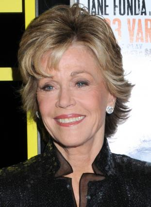 Jane Fonda's short hairstyle. Photographer: Janet Mayer / PR Photos