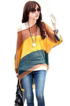 Boho Clothing For Women Over 50 Waltzman Batwing Blouse