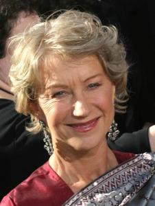 Helen Mirren is tousled at the Emmy Awards.