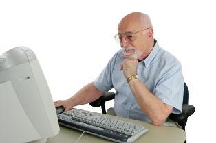 Senior online looking for life insurance