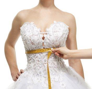 altering wedding dress