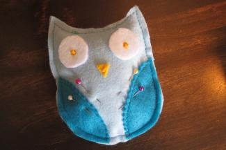 owl pin cushion