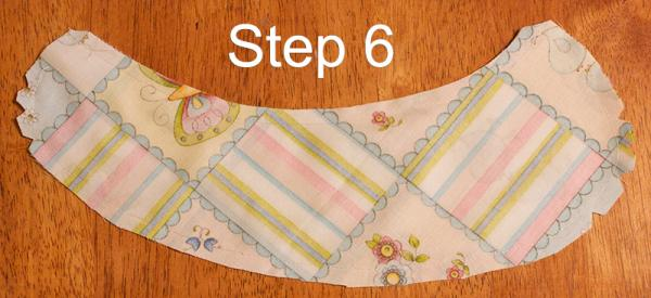 Peter Pan collar step 6