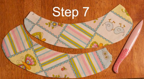 Peter Pan collar step 7