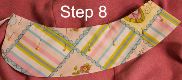 Peter Pan collar step 8
