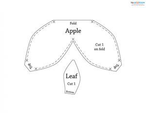 Felt Fruit Patterns apple