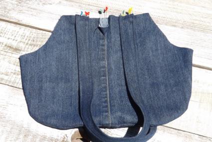 diy jean purse