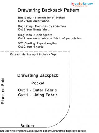 Drawstring Backpack Pattern PDF