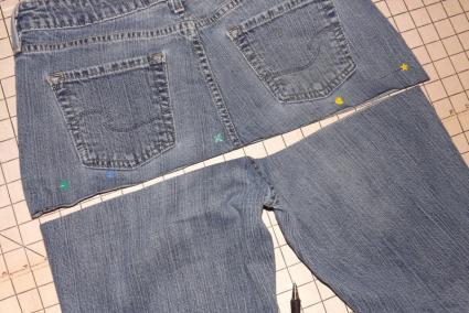 Cut your jeans.