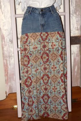 Maxi Jean Skirt