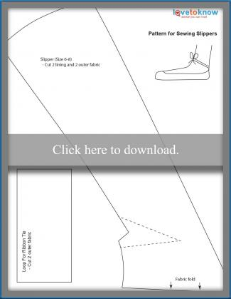 Pattern for sewing ballet slippers