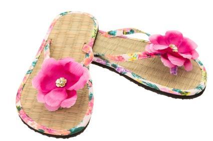 flower flip flop idea