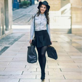 Woman with ankle boots