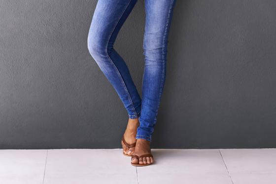 Jeans and sandals