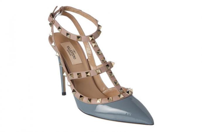 Bluefly - Valentino Rockstud Patent Ankle Strap Pump