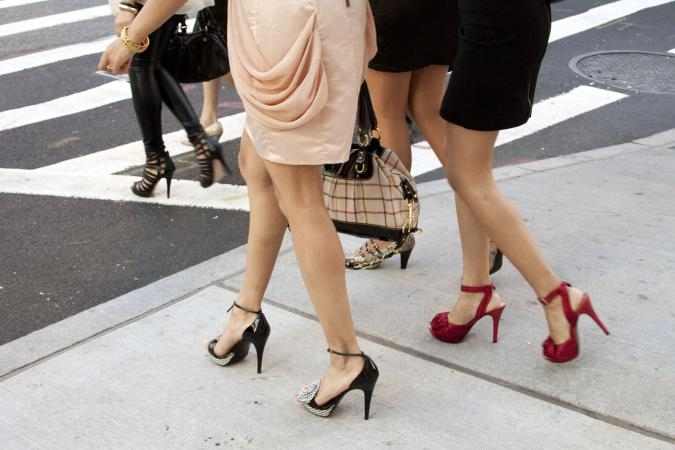 Women in pumps