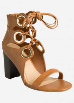 Oversized grommet sandal